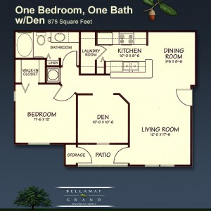 one bedroom apartments with a den available at our luxury apartments